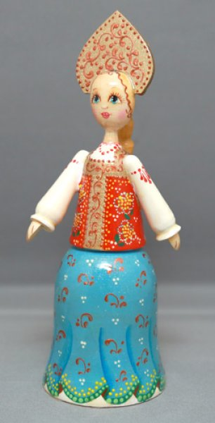 画像1: 木製ロシア人形A (1)