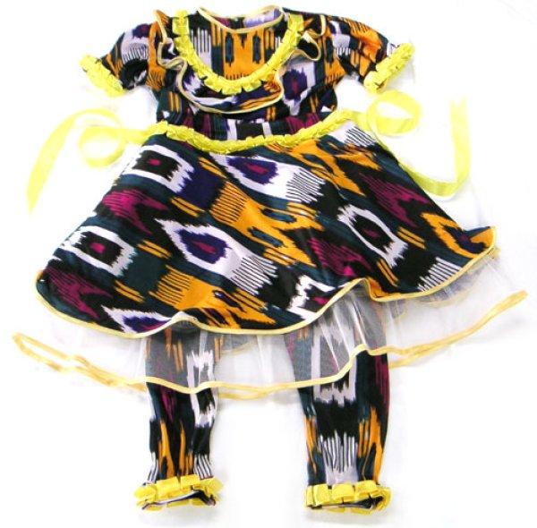 画像1:   ウズベク絣風プリント衣装 (1)
