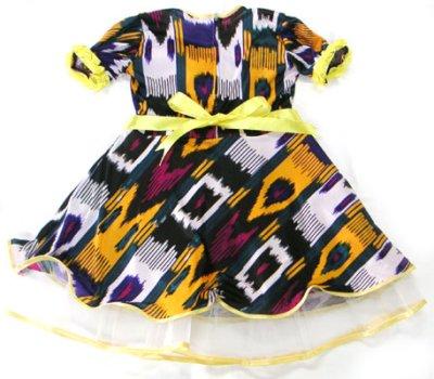 画像1:   ウズベク絣風プリント衣装